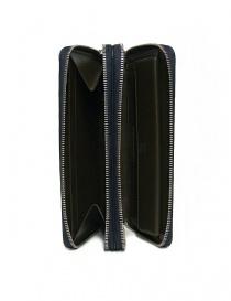 Portadocumenti Tardini in pelle di alligatore intrecciata colore blu borse acquista online