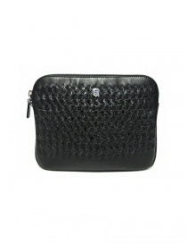 Bags online: Tardini woven alligator leather black underarm bag
