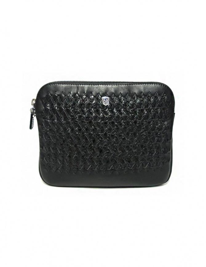 Borsello Tardini in pelle di alligatore intrecciata colore nero A6T261-31-01BL-SOTTO borse online shopping