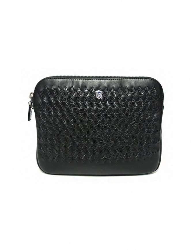 Tardini woven alligator leather black underarm bag A6T261-31-01BL-SOTTO bags online shopping