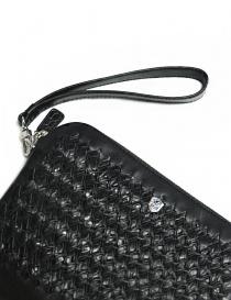 Borsello Tardini in pelle di alligatore intrecciata colore nero borse acquista online
