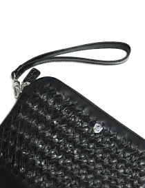 Tardini woven alligator leather black underarm bag bags buy online