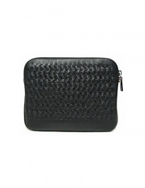 Tardini woven alligator leather black underarm bag price