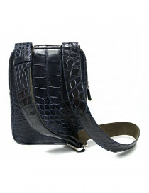 Tardini baltic blue waxed alligator leather handbag price