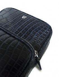 Borsello a tracolla Tardini in pelle di alligatore cerata colore blu baltico borse acquista online