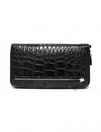 Bags online: Tardini black waxed alligator leather handbag