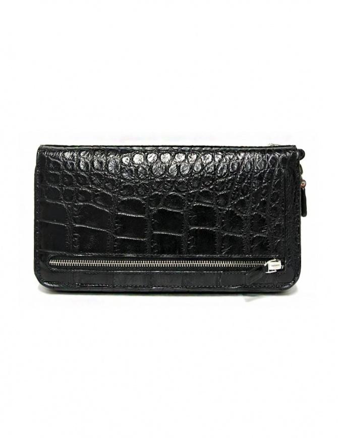 Borsello a mano Tardini in pelle di alligatore cerata colore nero A6T139-16-01-P-DOCUM borse online shopping