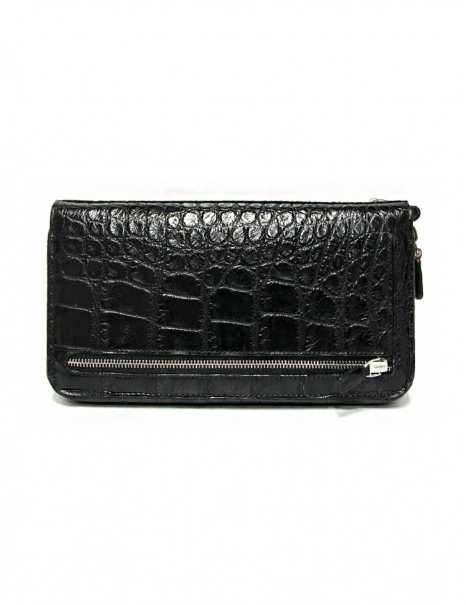 Tardini black waxed alligator leather handbag A6T139-16-01-P-DOCUM bags online shopping