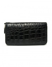 Tardini black waxed alligator leather handbag price