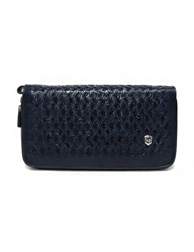 Tardini woven alligator leather blue handbag A6T139-31-06FL-BORSE bags online shopping