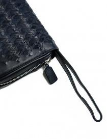 Borsello a mano Tardini in pelle di alligatore intrecciata colore blu borse prezzo