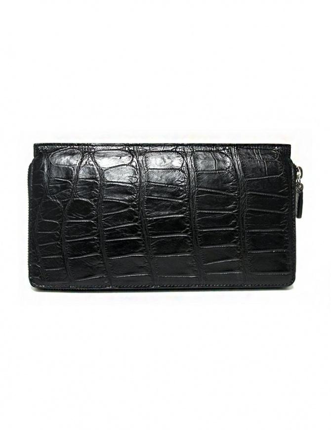 Portafoglio da viaggio Tardini in alligatore cerato colore nero A6P112-16-01-P-DOCUM portafogli online shopping
