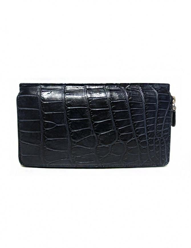 Portafoglio da viaggio Tardini in alligatore cerato colore blu baltico A6P112-16-256-P-DOCU portafogli online shopping