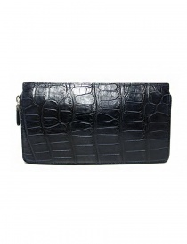 Portafoglio da viaggio Tardini in alligatore cerato colore blu baltico portafogli acquista online
