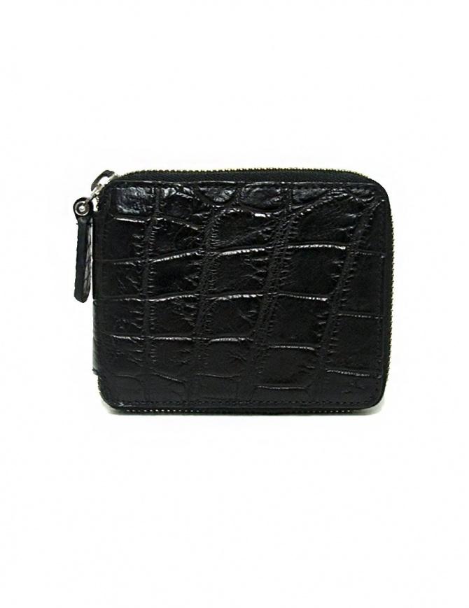 Portafoglio con zip Tardini in pelle di alligatore cerata colore nero A6P246-16-01-PORTAFO portafogli online shopping