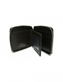 Tardini black waxed alligator leather zippered wallet price