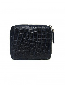 Tardini baltic blue waxed alligator leather zippered wallet buy online
