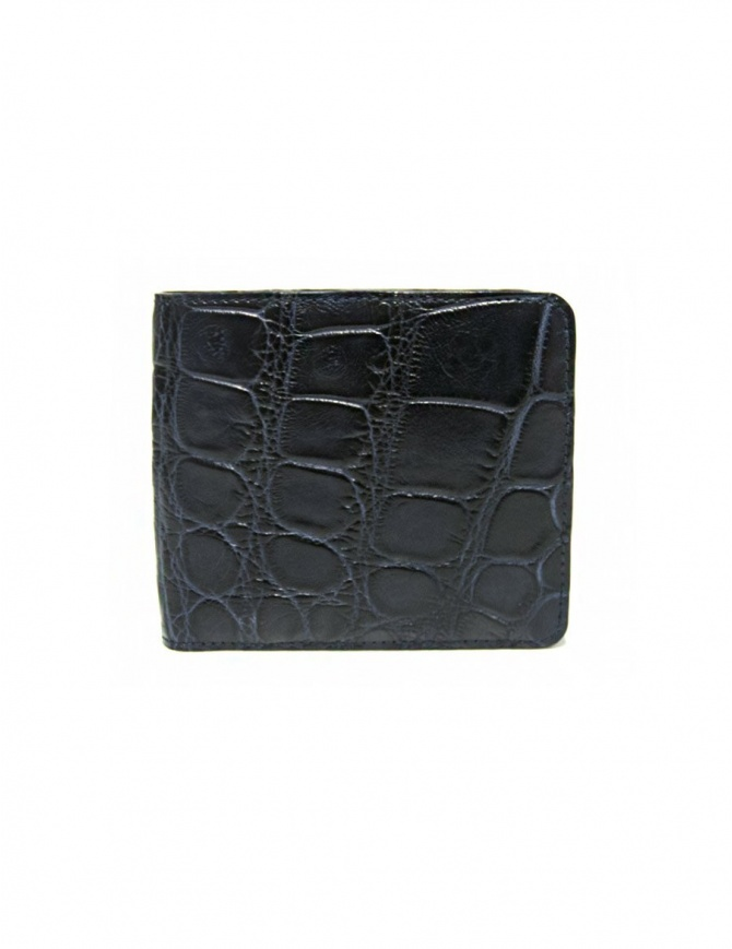 Tardini baltic blue waxed alligator leather wallet A6P242-16-256-PORTAF wallets online shopping