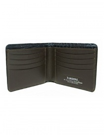 Tardini baltic blue waxed alligator leather wallet price