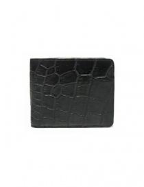 Portafoglio Tardini in pelle di alligatore cerata colore nero A6P242-16-01-PORTAFO