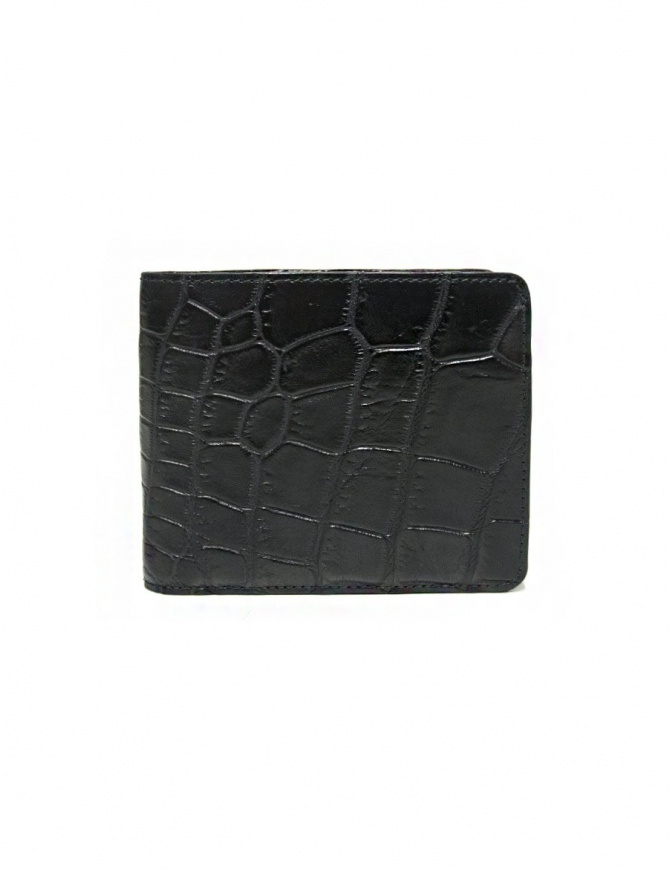 Portafoglio Tardini in pelle di alligatore cerata colore nero A6P242-16-01-PORTAFO portafogli online shopping