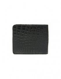 Portafoglio Tardini in pelle di alligatore cerata colore nero acquista online
