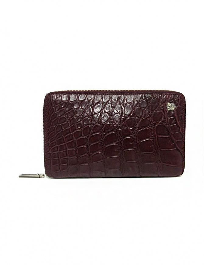 Portafoglio da viaggio Tardini in alligatore satinato colore rosso bordeaux A6P253-25-2404-P-DOC portafogli online shopping