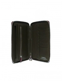 Tardini burgundy red satin alligator leather travel wallet wallets buy online