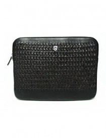 Bags online: Tardini woven alligator leather brown and black underarm bag