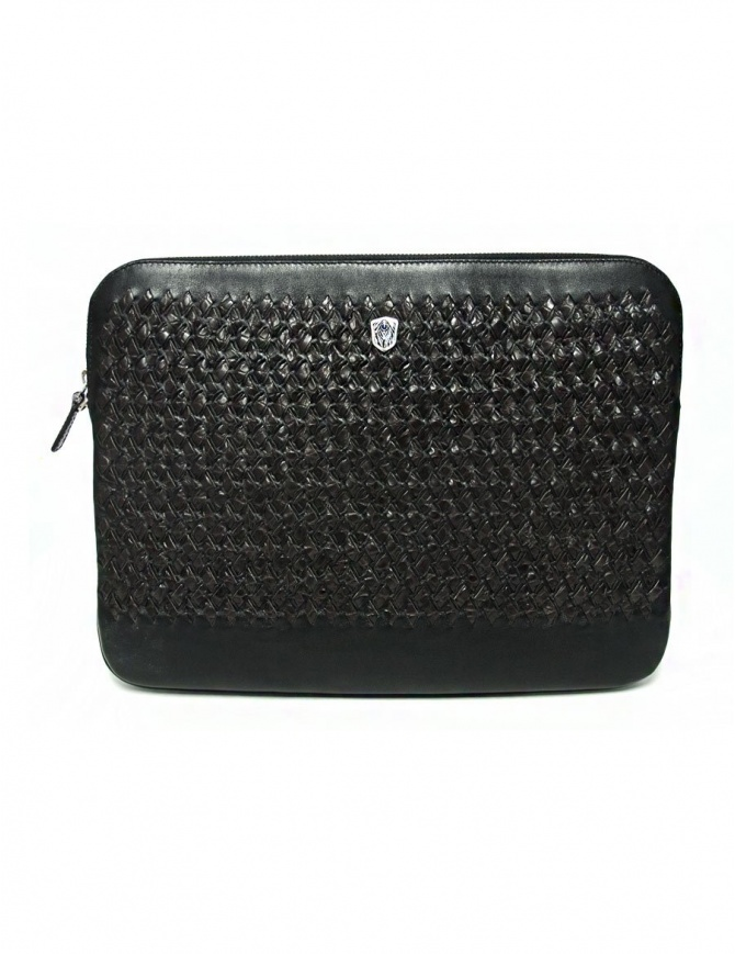 Tardini woven alligator leather brown and black underarm bag A6T253-31-02BL-SOTTO bags online shopping
