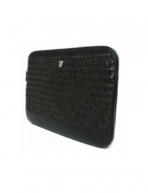 Tardini woven alligator leather brown and black underarm bag