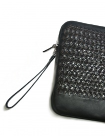 Tardini woven alligator leather brown and black underarm bag bags buy online
