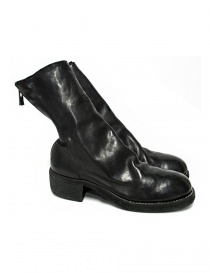 Womens shoes online: Black leather Guidi 788Z ankle boots