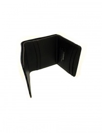 Tardini black waxed alligator leather card-holder