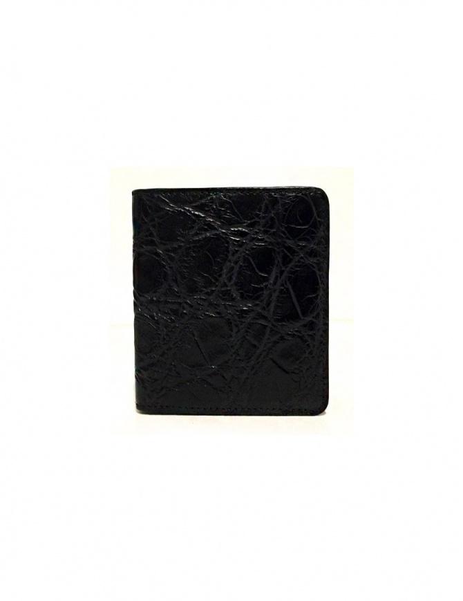 Portacarte Tardini in pelle di alligatore cerata colore nero A6P223-16-01-P-CARTE portafogli online shopping