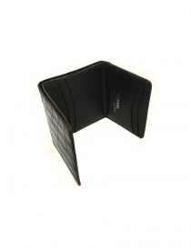 Tardini brown waxed alligator leather card-holder buy online