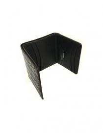 Tardini brown waxed alligator leather card-holder