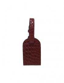 Portanome Tardini rosso in pelle di alligatore satinato A6R071-250-50-PORTAN