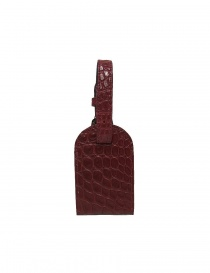 Tardini red satin alligator leather luggage tag A6R071-250-50-PORTAN