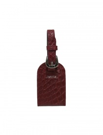 Tardini red satin alligator leather luggage tag buy online