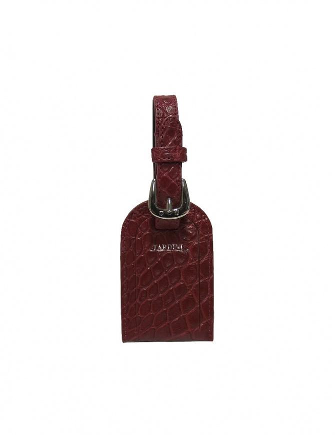 Portanome Tardini rosso in pelle di alligatore satinato A6R071-250-50-PORTAN portafogli online shopping