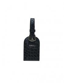 Tardini blue satin alligator leather luggage tag A6R071-25-256-PORTANOM order online