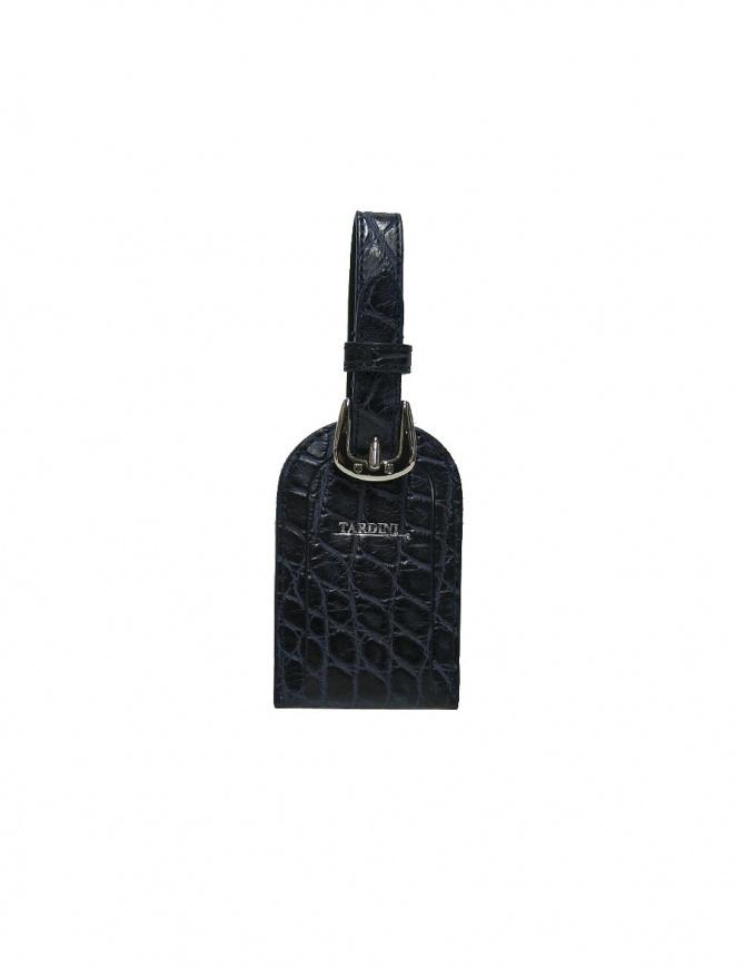 Tardini blue satin alligator leather luggage tag A6R071-25-256-PORTANOM wallets online shopping
