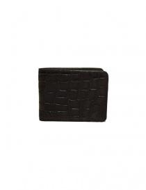 Portafoglio piccolo Tardini in pelle di alligatore cerata colore marrone A6P239-16-02-PORTAFO order online