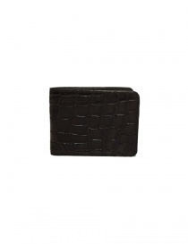 Wallets online: Tardini brown waxed alligator leather small wallet
