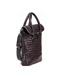 Tardini woven alligator leather bronw and black bag
