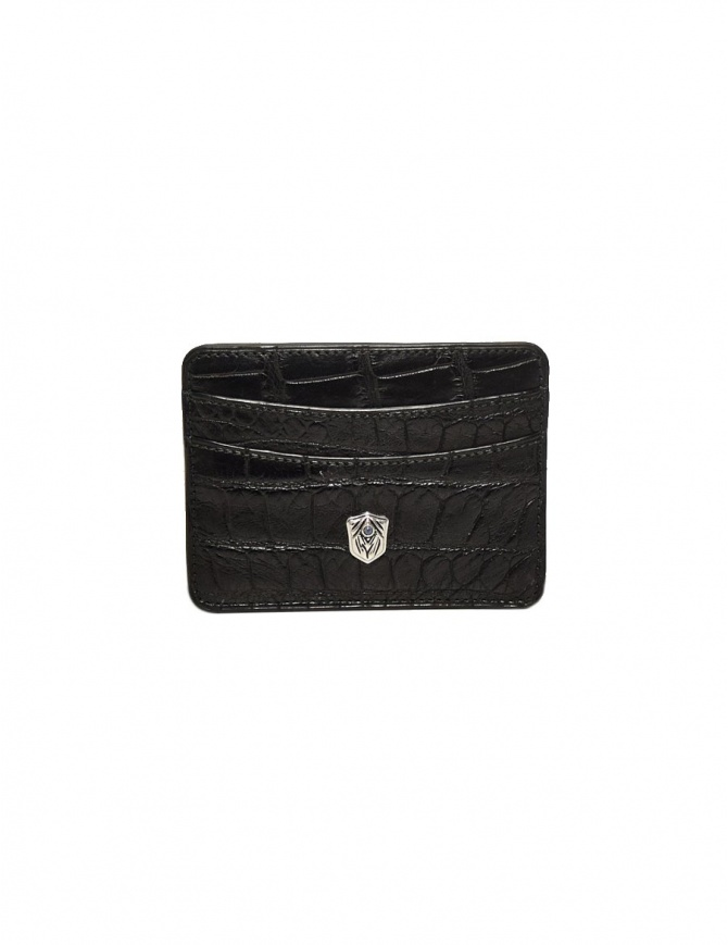 Tardini black waxed alligator leather cards-holder A6P011-16-01-P-CARTE wallets online shopping