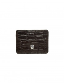 Tardini brown waxed alligator leather cards-holder A6P011-16-02-P-CARTE order online