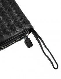 Borsello a mano Tardini in pelle di alligatore intrecciata colore nero borse prezzo
