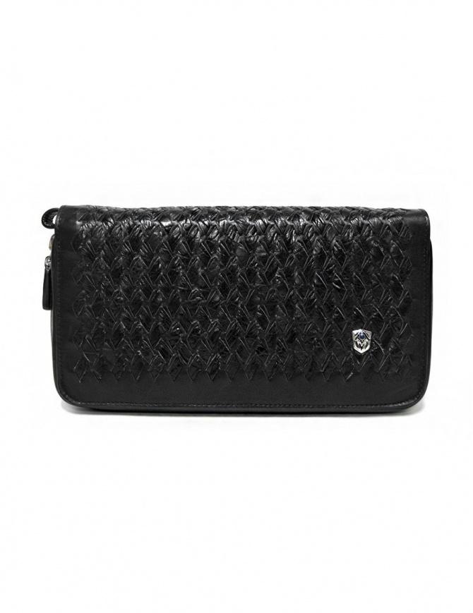 Borsello a mano Tardini in pelle di alligatore intrecciata colore nero A6T139-31-01BI-BORSE borse online shopping